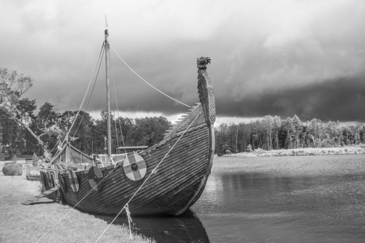 longship viking timber